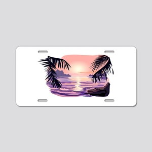 TROPICAL SUNSET [2] Aluminum License Plate